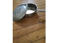 Large Stainless Steel Pan with Top