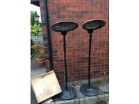 3 electric garden heaters