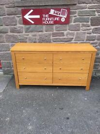 Oak 6 drawer chest *free furniture delivery*