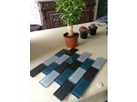 """Lofthouse glass wall tiles. 10 in total. Approx 12""""Hx14""""L Cost £17 each"""