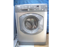 Reconditioned silver Hotpoint WMF740G 7kg load 1400 spin Washing machine with 3 month guarantee