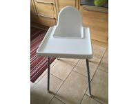 Ikea high chair with tray £7.00