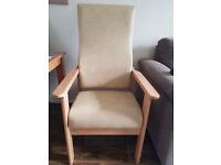 Teal Health Care High Back Chair - Cream Ergonomic Antibacterial Medical Elderly