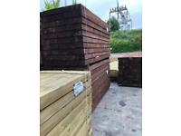 Railway sleepers and scaffolding boards
