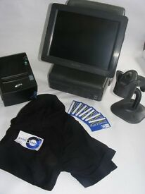 Fast EPOS Till System with Full Software, Card Swipe, Cash Drawer, Printer, Scanner, T Shirts