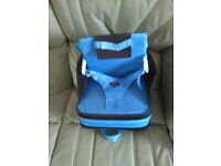 BLUE BOOSTER SEAT- 3 Way harness, baby/infant/ toddler/ (Portable)