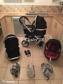 Icandy Peach 2 travel system in black magic