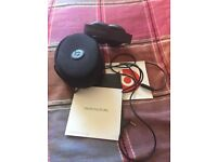 Beats' headphones in excellent condition with case in jet black colour