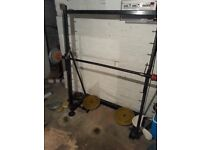 WEIGHTLIFTING RACK VERY STRONG SET UP FIRST 75 CASH BARGAIN !