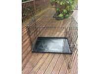 Large dog cage and bed