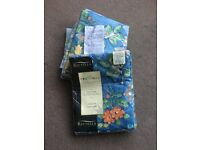 """Two pairs NEW blue floral curtains 66x90"""""""