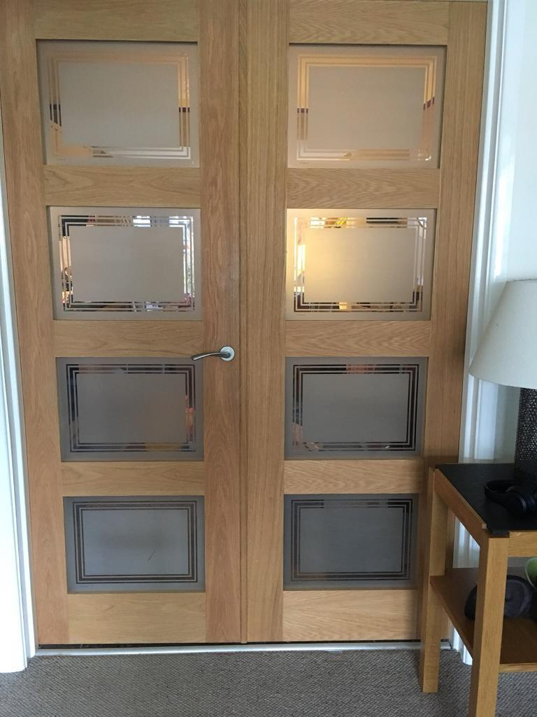 separation shoes 89a54 57b88 Internal double doors oak glazed Howdens | in Alwoodley, West Yorkshire |  Gumtree