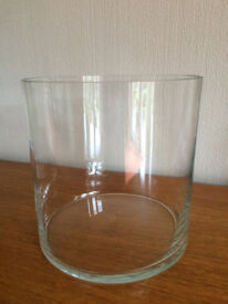 LARGE CLEAR GLASS VASE / BOWL / CONTAINER