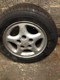 Mr2 alloys x4 with Bridgestone tyres