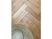 Engineered Oak Parquet Flooring Mat Oil Finish, size 15x70x280mm 4mm top layer
