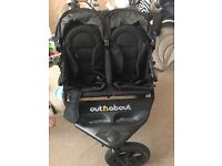 Used out N about double buggy/pram
