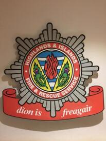 Rare fire station sign