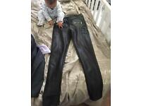 Size 6-8 leather trousers