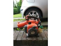 HUSQVARNA 125B PETROL LEAF BLOWER, STARTS AND RUNS PERFECT BUT MISSING A FEW BITS