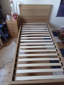 John Lewis single bed and mattress