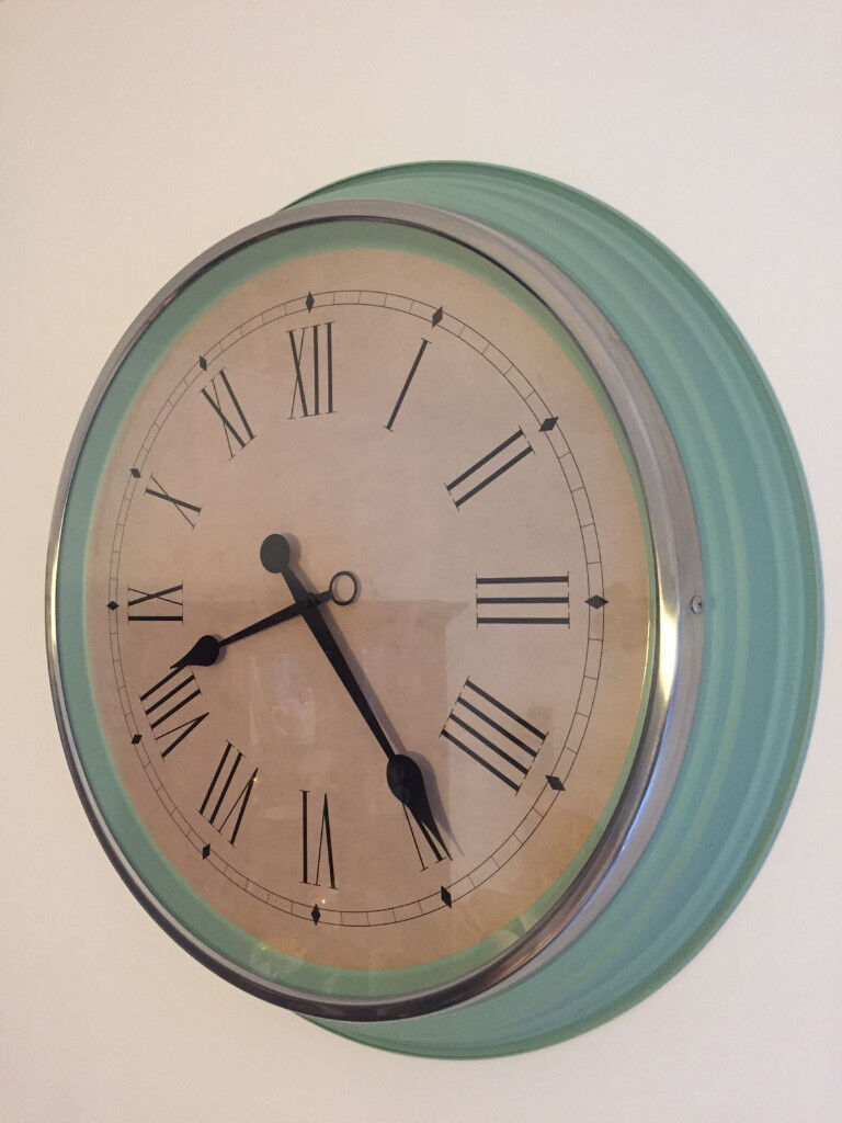 Beautiful Large Wall Clock Ikea Skovel In Mint Green Turquoise