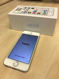 iPhone 5s 16GB in white (locked to EE network) mobile phone