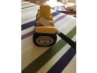 Marmite toast rack and knife