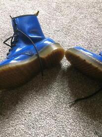Electric Blue Dr Martens size 4