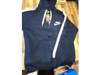 Nike men's navy/white stripe tracksuit Large. FREE POSTAGE