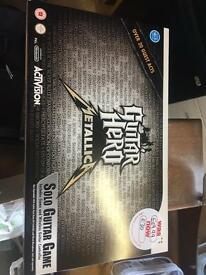 Brand new wii guitar hero metallica