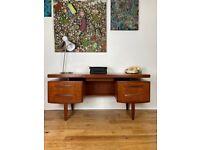 G Plan Fresco Mid-Century Vintage Retro 1960s Teak Desk FREE LOCAL DELIVERY