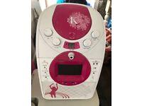 EK Karaoke Machine with 2 microphones and CDs