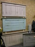 HEADBOARDS, FOOTBOARDS, SHABBY CHIC, COTTAGEY RUSTIC-ALL SIZES