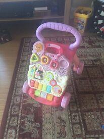 Vtech pink musical walker toy for sale