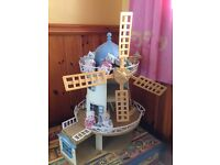 Sylvanian Families Windmill with animal families included.