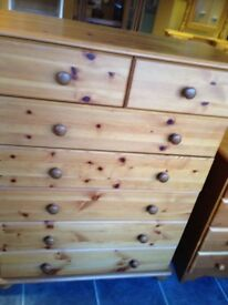 PINE 5 + 2 CHEST OF DRAWERS VERY GOOD CONDITION