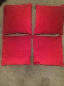Red cushions - matching curtains also available