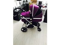 Travel system - carry cot, strollers, car seat, rain covers