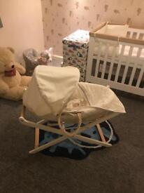 Teddy toy box Moses basket and stand