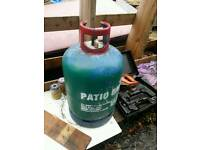 Patio gas bottle some gas left in
