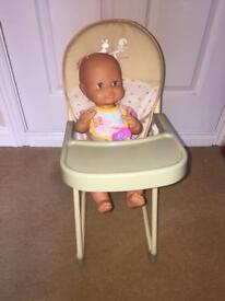 Mamas and papas dolls highchair