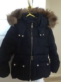 Zara Girls Down Filled Navy Coat 9/10