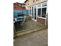 Fencing with rails and posts QUICK SALE OR WILL BE SCRAPPED