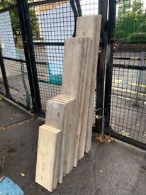 Reclaimed scaffold boards/wood £1.75 per ft - Brixton delivery available   timber/upcycle/planks