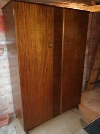 Beautiful vintage wooden double wardrobe