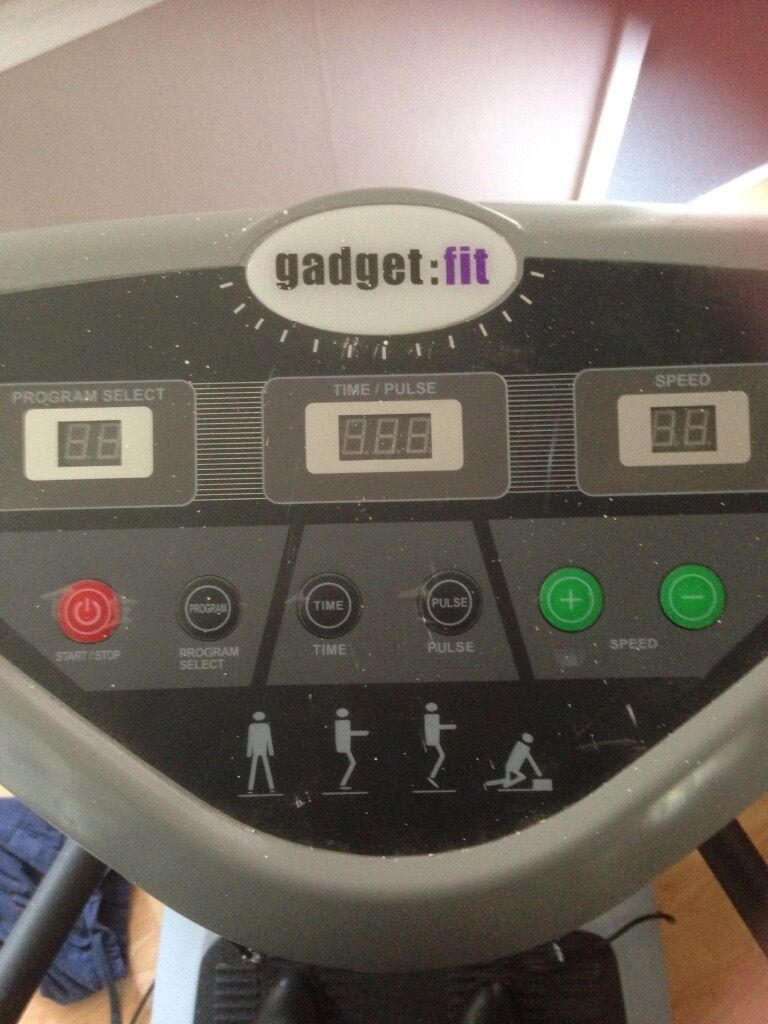 Gadget fit vibrating platein Watford, HertfordshireGumtree - Gadget fit vibrating plate. Good for toning up and getting rid of cellulite. £100 or very nearest offer. Collection only. Watford