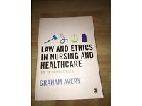 Law and ethics in nursing and healthcare Graham Avery