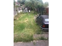 Front and back garden space to park car or van