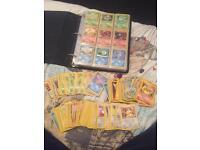 Folder full of old Pokémon cards.