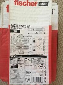 Fischer FAZ II 12/20 A4 Anchor Bolts